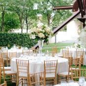 Pink and White Garden Reception