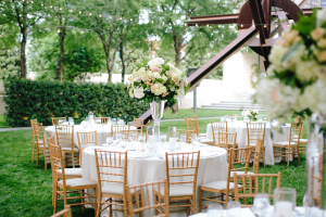 Pink and White Garden Reception