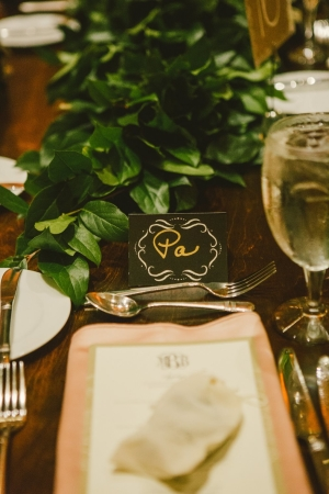 Place Setting in Blush and Green