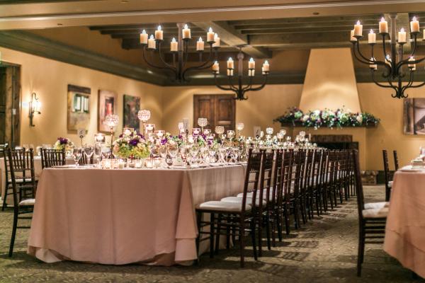 Purple and Bronze Reception