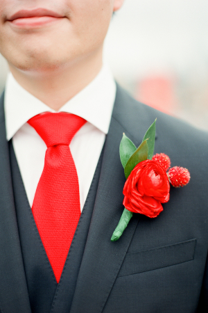Red Tie for Groom