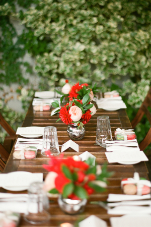 Red and Green Restaurant Wedding
