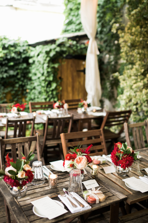 Red and Pink Outdoor Wedding
