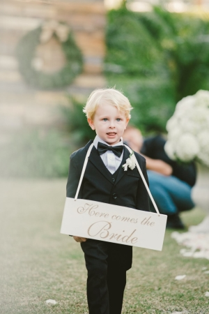 Ring Bearer with Sign