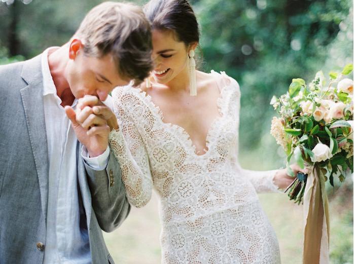 Romantic Lace Wedding Gown - Elizabeth Anne Designs: The Wedding Blog