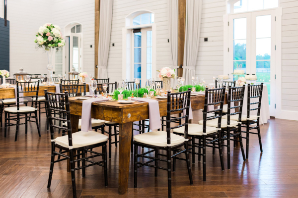 Rustic Wedding with Trough Tables