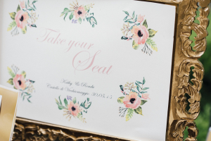 Seating Card Sign