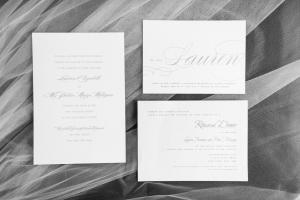 Silver and White Wedding Invitations