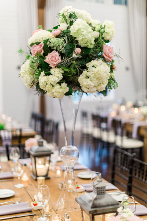 Tall Centerpiece with Hydrangea