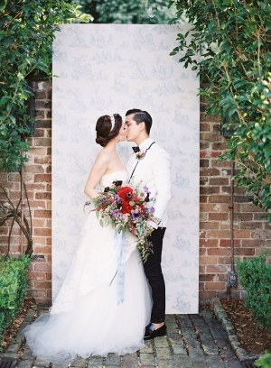 Toile Ceremony Backdrop