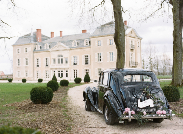 Vintage Car at French Chateau