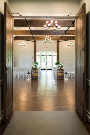 Wedding Ceremony with Wine Barrels