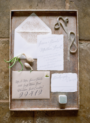 Wedding Invitations in Natural and Ivory