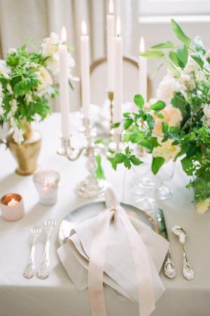 Wedding Napkin Tied with Ribbon
