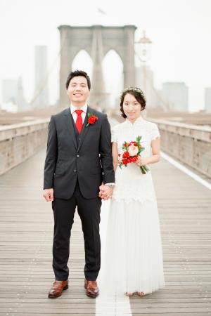 Wedding Photos on Brooklyn Bridge