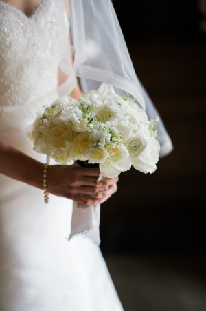 White Bouquet with Peonies