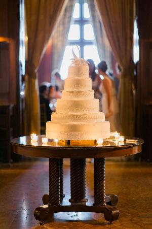 White Multi Tier Wedding Cake