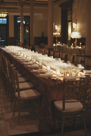 White and Gold Modern Reception