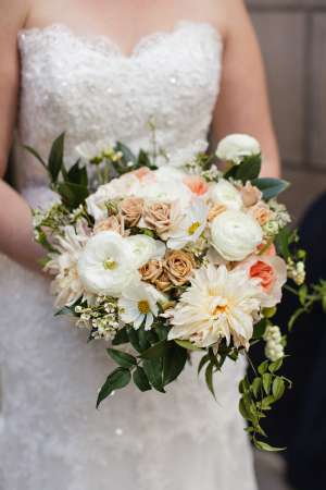 Apricot and Ivory Bouquet