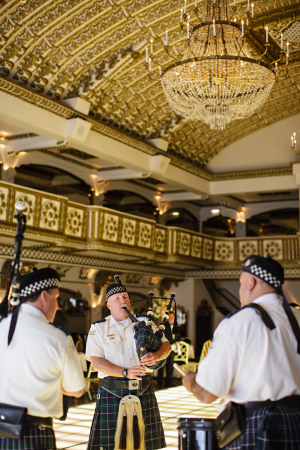 Bagpipers at Wedding