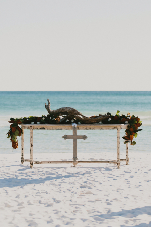 Beach Wedding Ceremony Altar