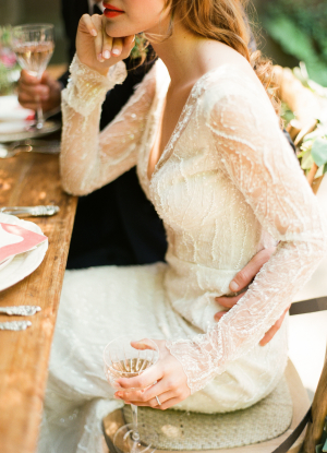 Beaded Lihi Hod Wedding Dress