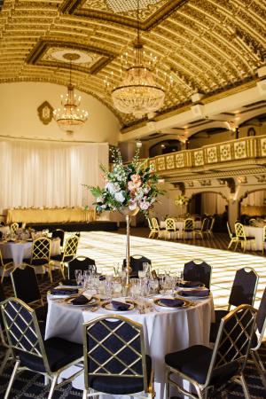Black and Gold Ballroom Wedding