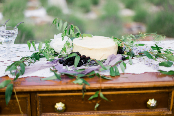 Blackberries on Wedding Cake