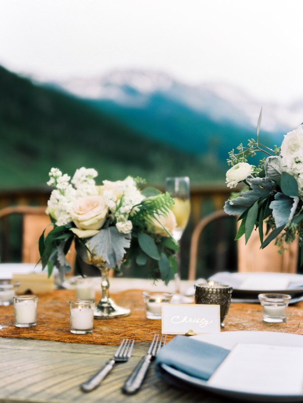 Blush and Copper Wedding Table