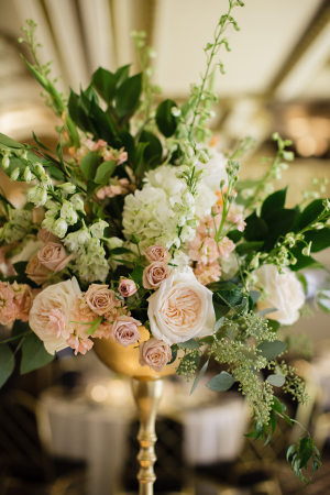 Blush and Green Wedding Flowers