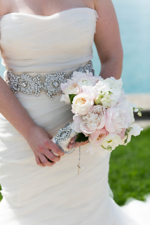 Bouquet with Brooch and Rosary