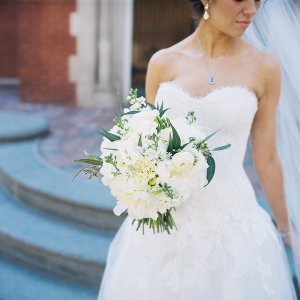 Bouquet with Peonies and Lily of the Valley