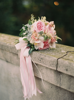 Bouquet with Pink Ribbons