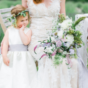 Bride and Flower Girl in Lavender
