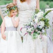 Bride and Flower Girl in Lavender