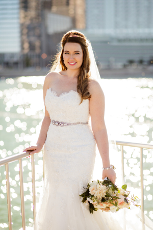 Bride by Lake Michigan