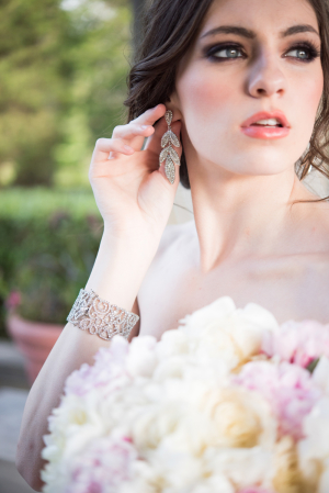 Bride in Chandelier Earrings
