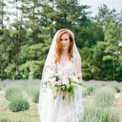 Bride in Lavender Field