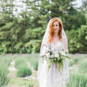 Bride with Pale Purple Bouquet