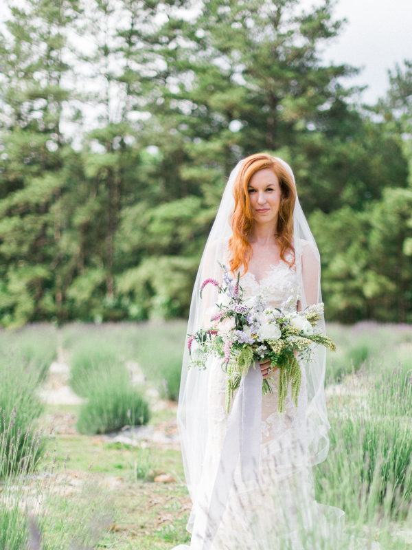 Bride with Pale Purple Bouquet