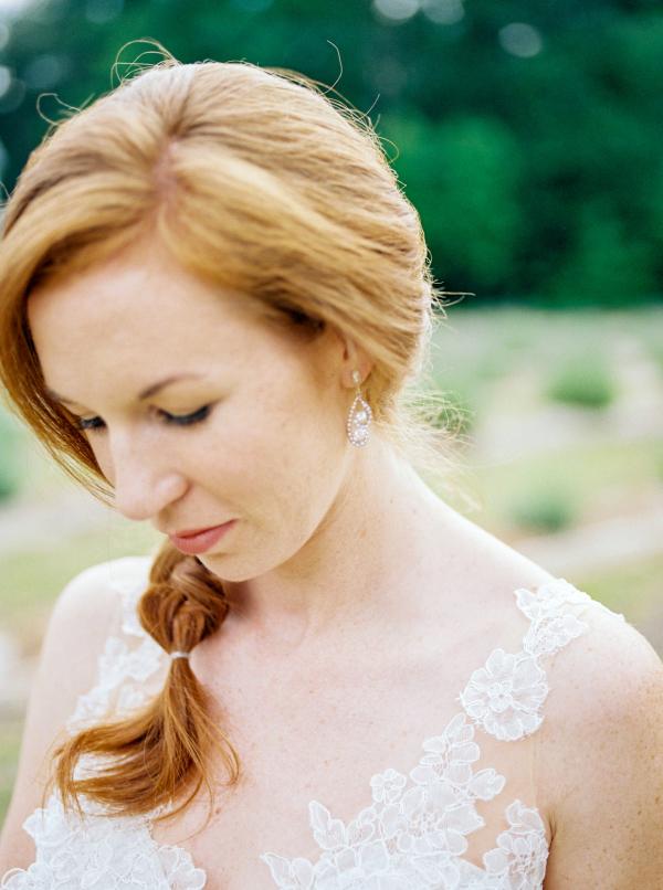 Bride with Side Braid