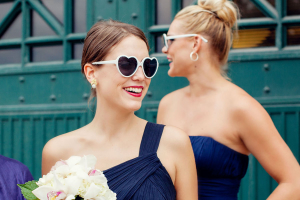 Bridesmaid in Heart Sunglasses