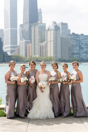Bridesmaids in Mauve