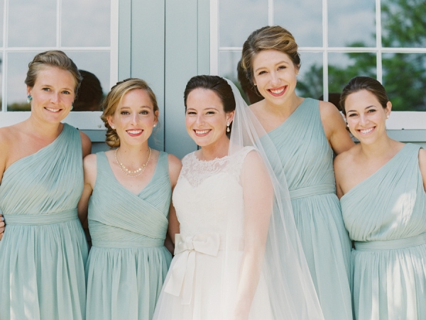 Bridesmaids in Mint Green
