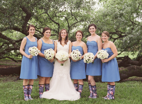 Bridesmaids In Rain Boots