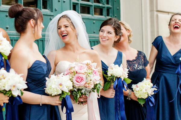 Bridesmaids in Royal Blue