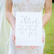 Calligraphy Wedding Quote