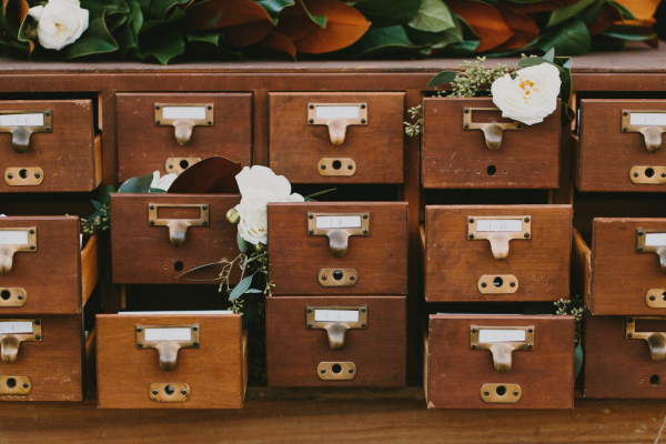 Card Catalog Seating Chart