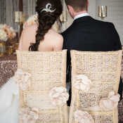 Chair Covers with Fabric Flowers