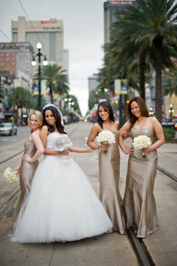 Champagne Mocha Bridesmaids Dresses In New Orleans - Elizabeth Anne ...
